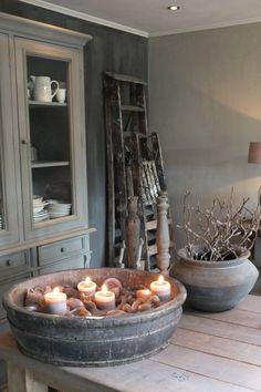 Einblick in die Wohnküche Styling & Living, Estilo Cottage, Estilo Interior, Vibeke Design, Home And Deco, Rustic Interiors, Wabi Sabi, Decoration, Home And Living, Chandeliers