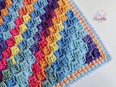 EASY crochet fluffy baby blanket / easy to crochet - baby Crochet Stitches For Blankets, Crochet Blanket Patterns, Baby Blanket Crochet, Crochet Baby, Crochet Santa, Easy Knitting Projects, Easy Knitting Patterns, C2c Crochet, Easy Crochet