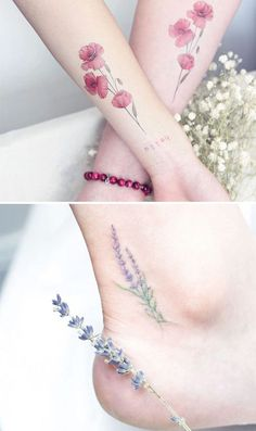 Nature Beauty of Flower Tattoo Ideas on Anke and Arms