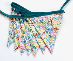 Rifle Paper Co. Floral Fabric Bunting Garland Banner - Bedroom/Nursery/Party/Photoshoot Decor by FeteDesignsCanada on Etsy Bunting Garland, Fabric Bunting, Rifle Paper Company, Teal Green, Floral Fabric, Custom Fabric, To My Daughter, Unique Gifts