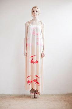 La La Land Concept Dress in Silk with Fluorescent Swan by SLCSLC