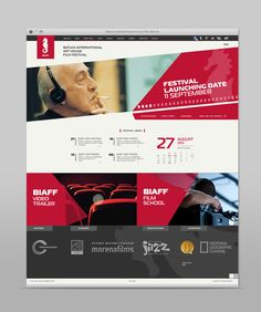 BIAFF Web Design by Akaki Razmadze, via Behance