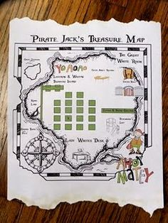 pirate map activity for open house