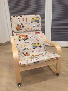 DIY tutorial ✂ How to sew your cover for an Ikea Poäng children's armchair ✓ detailed step by step instructions ✓ also suitable for beginners ✂ Diy Interior, Diy Garden Decor, Diy Home Decor, Kids Armchair, Children's Armchair, Tutorial Diy, Decoration Bedroom, Sewing Projects For Kids, Sewing Tutorials