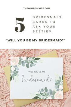 These will you be my bridesmaid cards are a unique way to ask your girls to stand by your side on your wedding day! Perfect for a summer or spring wedding. Custom made and featuring a contemporary floral eucalyptus design. Bridesmaid Makeup Bag, Bridesmaid Gift Bags, Bridesmaid Gifts Unique, Bridesmaid Proposal Cards, Be My Bridesmaid Cards, Will You Be My Bridesmaid, Monogrammed Bridesmaid Gifts, Bridal Party Getting Ready, Wedding Stationary