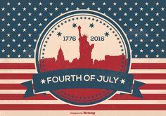 Fourth of July Illustration