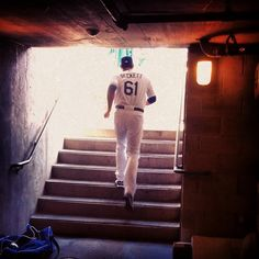 Josh Beckett heads out of the clubhouse to warm up: Josh Beckett, Los Angeles Dodgers, Major League, Interview, Baseball, Studs, Sports, Warm, God