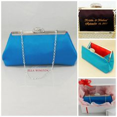 Blue Jewel And Bright Red Bridesmaid Gift With by EllaWinston, $59.00