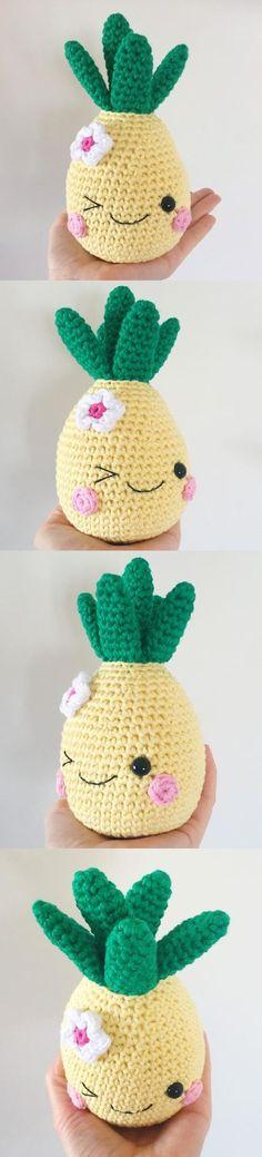 Happy Pineapple Amigurumi Pattern