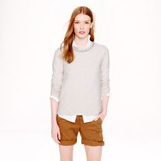 J.Crew - Marled jeweled sweatshirt