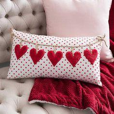 Polka Dot Hearts Accent Pillow from Kirkland's Dekorationen Bauernhaus Valentinstag Kirkland's Valentines Day Hearts, Valentine Day Love, Valentine Day Crafts, Diy Pillows, Accent Pillows, Decorative Pillows, Cushions, Throw Pillows, Tables Shabby Chic