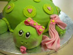 Turtle Baby Shower Cake by sinfullysweetbakeshop, via Flickr