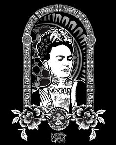 Frida Kahlo Tatted Up Print / 8x10 print / mexican art / latin history / culture / tattoo / urban / chicano / praying hands / guadalupe