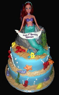 Little Mermaid Party Cake   (by Cake~n~Bake, via Flickr)