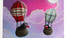 Excited to share the latest addition to my #etsy shop: Christmas Sale, Christmas gift, Acrylic painting, Hot Air Balloon painting, Christmas for kids, Babyshower gift, Gift for kids, Canvas http://etsy.me/2BkDoWt #art #painting #birthday #christmas #white #purple #chri