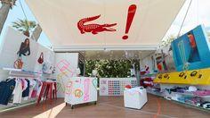 Pop up store da segunda marca da Lacoste, a LACOSTE L!VE. O projeto executado pela SG Blocks é uma solução móvel construída à partir de um containêr (fotografado no Coachella Music Festival, 2012)  Designed by aruliden