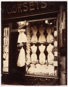 Eugène Atget Corset shop