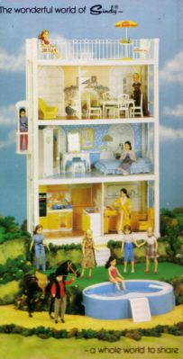 My Sindy house that even had working lights put in by my dad...I loved it and had loads of furniture including a hair salon thing
