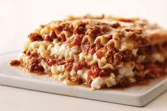Fit our Better-than-Ever Cheesy Meat Lasagna into a healthful eating plan. This cheesy meat lasagna is made with cottage cheese, ground beef and pasta sauce.