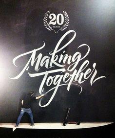 Making Together by Luca Barcellona - Calligraphy & Lettering Arts, via Flickr