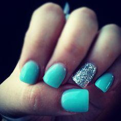 Finally! My Tiffany Blue Nails♥