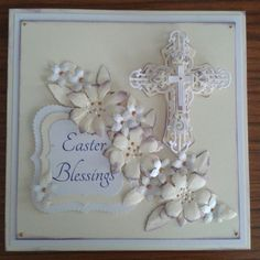 victorian handmade easter cards | Lastly I used the cosmic shimmer to create flower centres.