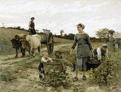 Édouard Debat Ponsan (Corner of vineyard, 1886)