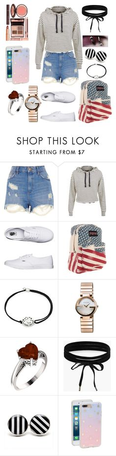 """Usual day"" by victoriacl2001 ❤ liked on Polyvore featuring River Island, Vans, JanSport, Alex and Ani, Gucci, Boohoo, Sonix and Charlotte Tilbury"