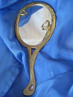 Vintage Handspiegel, Shabby Spiegel von viel-schoenes auf DaWanda.com