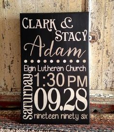 Wedding Announcement Custom Stencil By Stencil Me In www.stencilmein.com - Painted by Says By Stacy ( saysbystacy@gmail... )