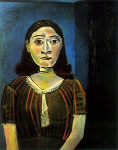 Pablo Picasso. Femme au corsage de satin (Portrait de Dora Maar). 1942.