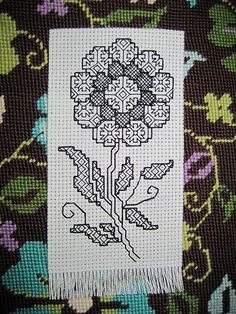 Blackwork Bookmark - like the patterns used to fill the spaces on this