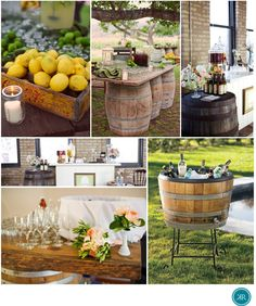 Wine Barrel Wedding Decor