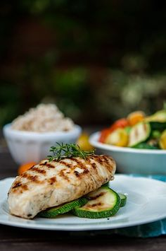 Grilled Chicken With Zucchini Salad