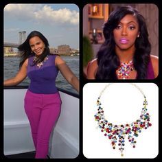 #AnaAndAva Scarlett Statement Necklace - As seen on #PorshaWilliams #RHOA   Original Price $70 - Your Price $50  ***Note*** 3 Stones Missing In Necklace, Barely Noticeable