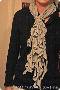DIY ruffle scarf