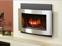 Wall Contemporary Electric Fireplace