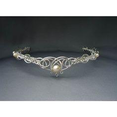 Sabrina Circlet Headpiece Wedding Bridal Celtic Elven Medieval... ($290) ❤ liked on Polyvore