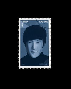 John Lennon Postage Stamp A4 Print by MylesArtprints on Etsy, £9.00