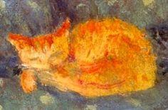 Orange Cat Sleeping - Pierre Bonnard French 1867-1947
