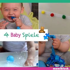 4 Spielideen für Babys You can find more of such tips, tricks, DIYs, recipes and life hacks for pare Baby Learning Activities, Babysitting Activities, Montessori Activities, Indoor Activities, Infant Activities, Kids Learning, Activities For Babies Under One, Creative Activities For Toddlers, 9 Month Old Baby Activities