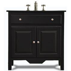 """Raised Panel Sink Base - 36"""" in Onyx"""