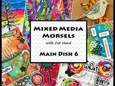 """YouTube Mixed Media Morsels by Cat Hand. Canvas """"My Happy Place"""""""