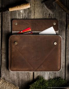 Leather MacBook Air / Pro Case hard sleeve. by CrazyHorseCraftCom