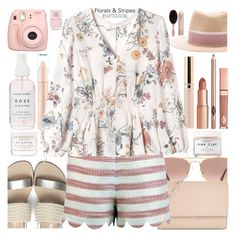 """""""Florals & Stripes"""" by jan31 ❤ liked on Polyvore featuring Ray-Ban, Michael Kors, Traffic People, Fujifilm, Rebecca Taylor, Herbivore, Maison Michel, Dolce Vita, Boohoo and Nails Inc."""