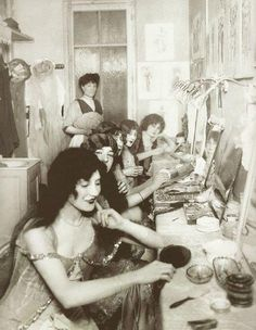 Dressing room at the MoulinRouge, 1924.