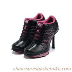 Femmes Nike Air Max 2012 Talons Hauts Noir Rose