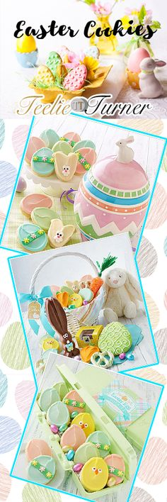 Teelie's Top Pick Cutest Easter Cookies. Try them: www.teelieturner.com One awesome option that you can give this Easter is nothing else but delicious cookies. Take a look at our latest Easter cookie features! They are colorful, adorable and beyond any doubt delicious. #eastercookies