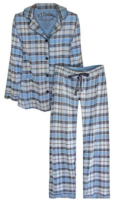 "PJ Salvage Women's Fall Into Flannel ""Shades of Grey"" Pajama Set $65 - SHOP http://www.thepajamacompany.com/store/18996.html"