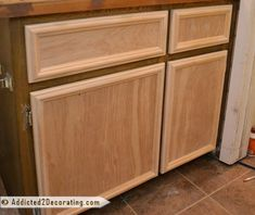 FINALLY someone shows how to make cabinet doors without special tools! I'd love to make these when we build custom bookshelves in our living room.